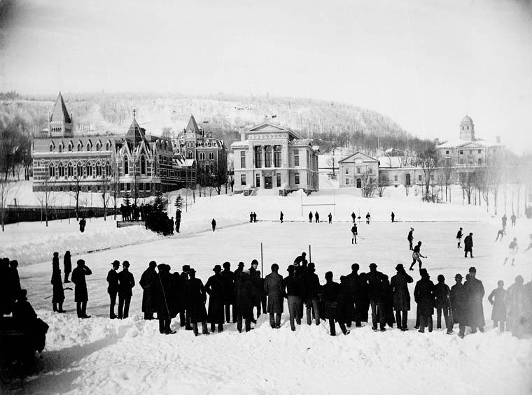 historie hokeje - utkání v roce 1884